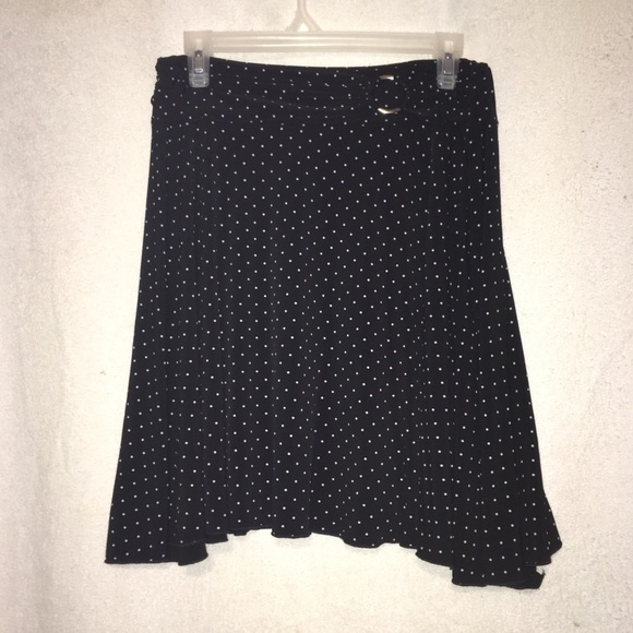 Joe Benbasset Dresses & Skirts - Black and White Polka Dot Skirt